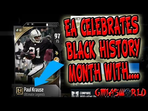 EA CELEBRATES BLACK HISTORY MONTH WITH BLACK PAUL KRAUSE MADDEN 18 ULTIMATE TEAM