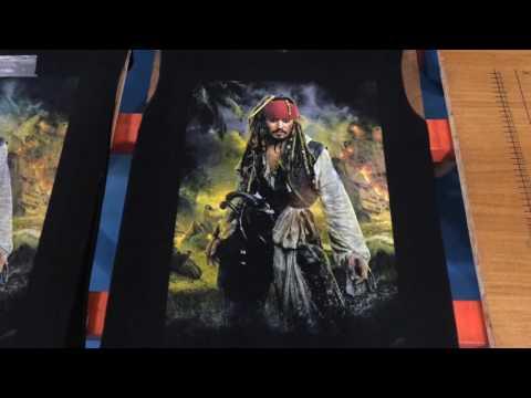Sablon Kaos Plastisol ink- Pirates Of The Caribbean    Screen Printing    Spot Color Process