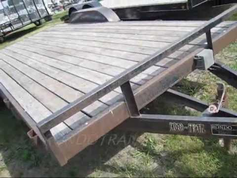 LOAD TRAIL 18 CAR HAULER LANDSCAPE TRAILER FLATBED