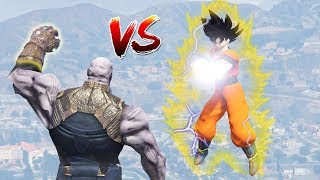 GTA 5 MODS : GOKU FROM DRAGON BALL Z (Goku vs Thanos fight !)
