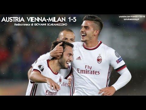 AUSTRIA VIENNA-MILAN 1-5 - Radiocronaca di Giovanni Scaramuzzino (14/9/2017) da Rai Radio 1