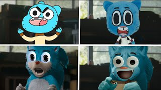 Sonic The Hedgehog Movie - The Amazing World of Gumball Uh Meow All Designs Compilation
