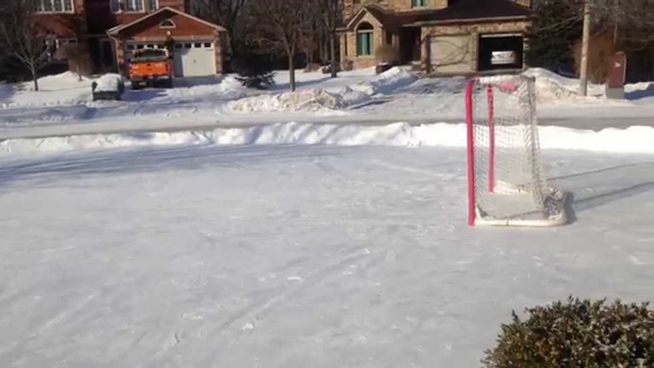How To Build An Outdoor Rink Without A Liner Youtube