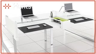 Office Of The Future Here Today - Frameone Loop Desk Steelcase