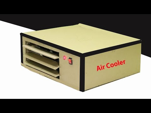 How To Make Air Cooler With Cardboard DIY Air Cooler At Home