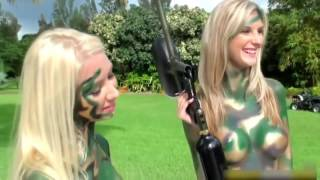 body painting camouflage soldier body paint