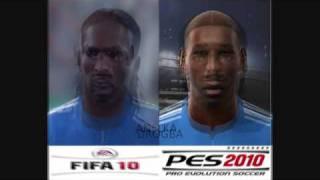 Fifa 10 Vs Pes 2010 Face Comparison   Chelsea,man Utd,barcelona,real Madrid