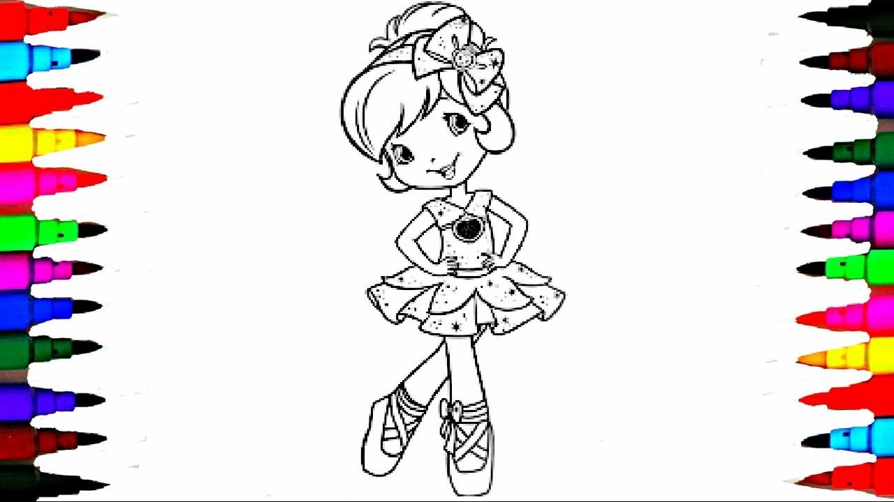 learn colors coloring strawberry shortcake coloring pages videos for children learning colors