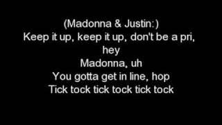 Download Madona feat. Justin Timberlake - 4 minutes whith LYRICS Mp3 and Videos