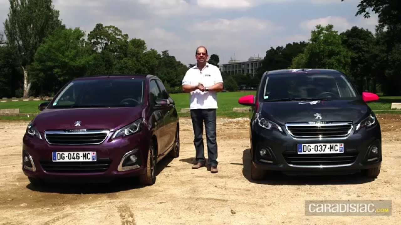 A l 39 int rieur de la peugeot 108 youtube for Interieur peugeot 108