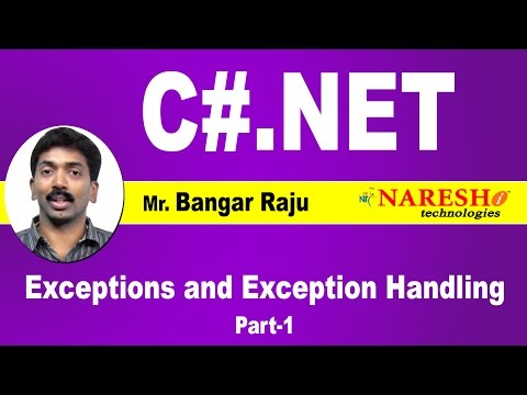 Exceptions and Exception Handling in C#.Net - Part 1 | C#.NET Tutorial | Mr. Bangar Raju
