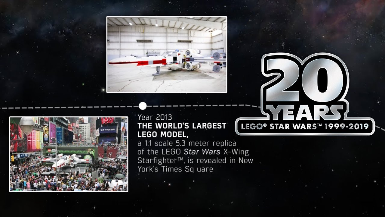 Heres 20 Years Of Lego Star Wars Nostalgia In A Wrap Youtube