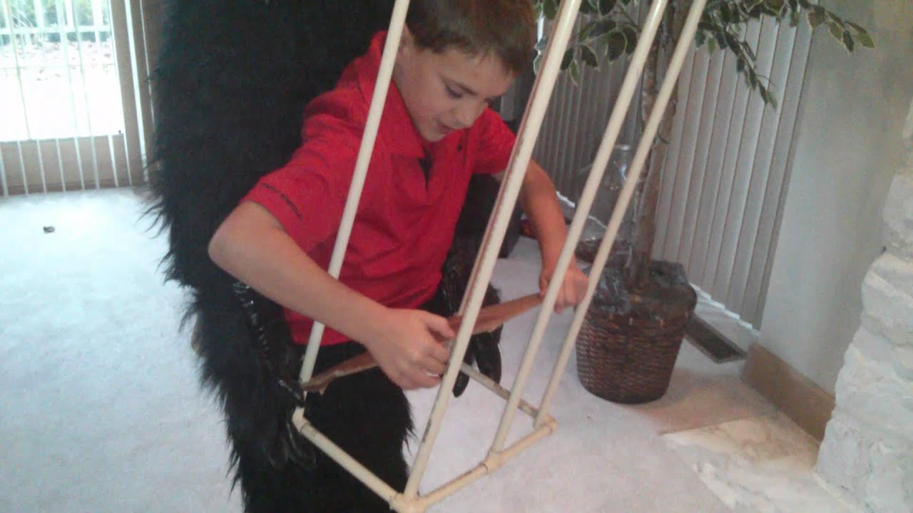 Uncategorized How To Make A Gorilla Costume gorilla with boy in cage halloween costume youtube