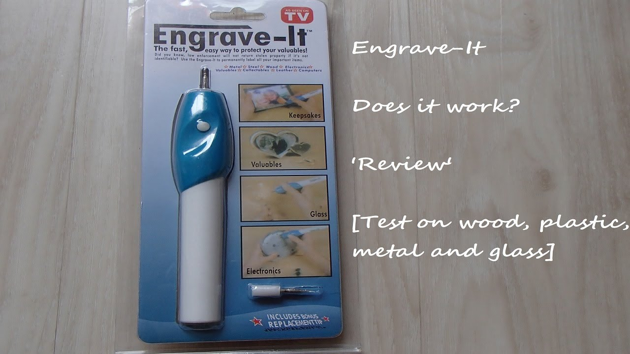 Engrave It Engraver Pen Review Wood Plastic Metal And