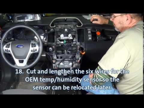 Installation Of The Havis Integrated Control System For Ford Police Interceptor Sedan Youtube