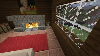 Relaxing Minecraft Fireplace and Rain Ambience w/vanilla music (10 Hours)