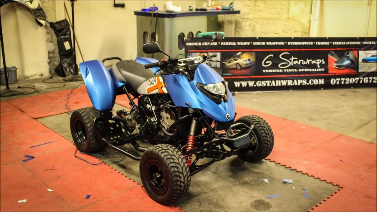 Quad Bike 3m Matte Blue Metallic Wrap G Starwraps Youtube