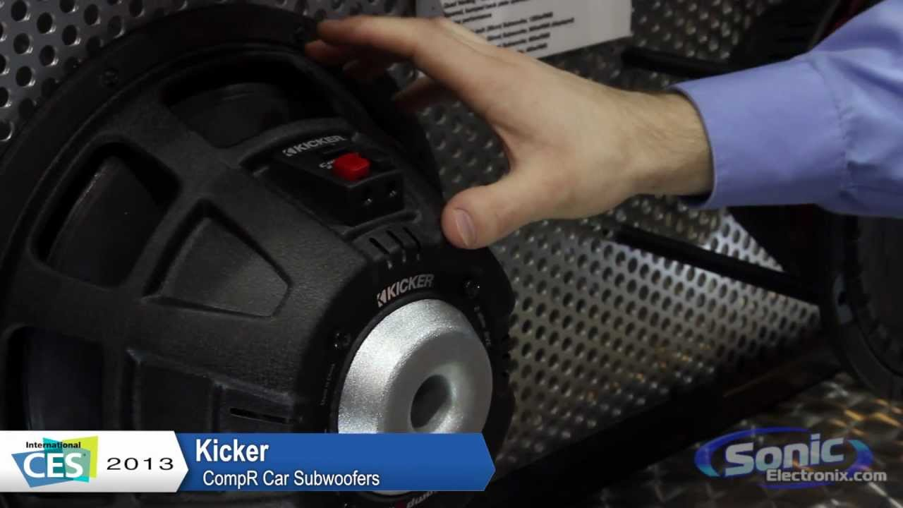 kicker compr car subwoofers the new cvr ces 2013 [ 1280 x 720 Pixel ]