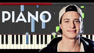 Kygo Stay Piano cover midi tutorial sheets partitura how to play on piano chords