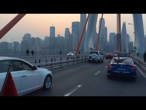 Beautiful bridge in Chongqing city
