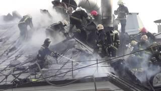 Пожар в бизнес-центре «Боллоев». СПб. 09-11-2013г (2ч)