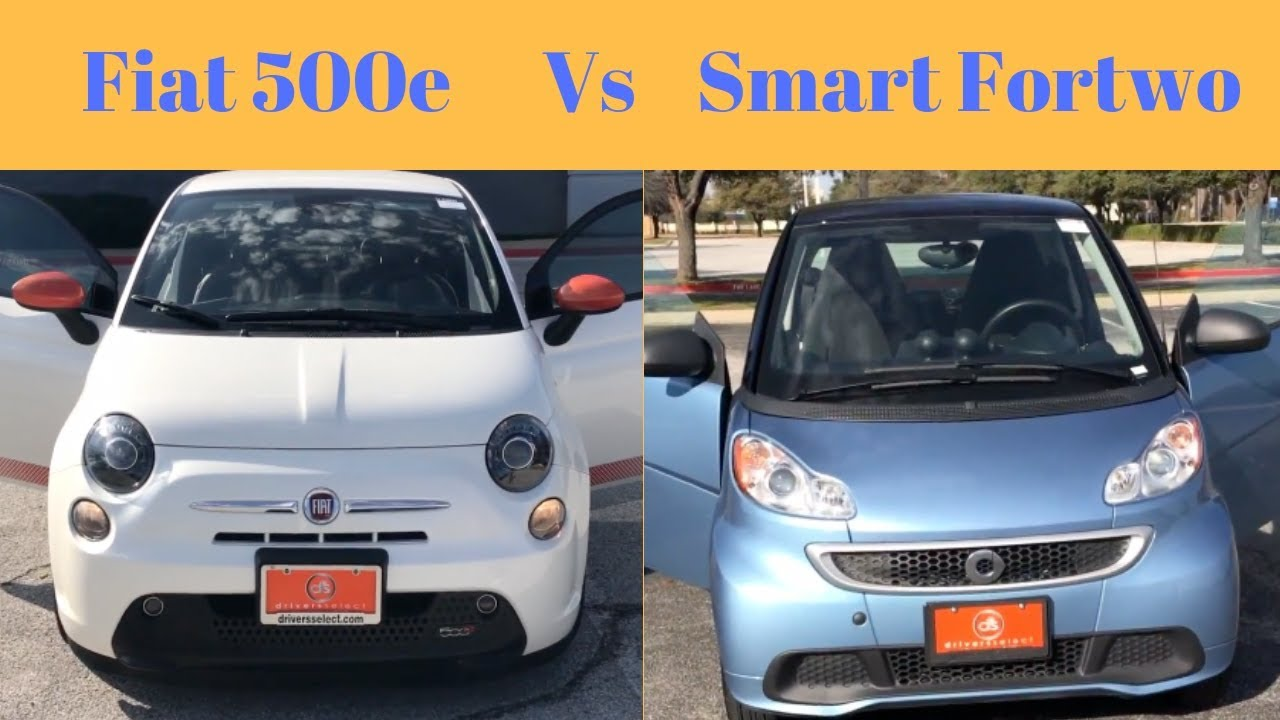 Fiat 500e Vs Smart Fortwo Who Will Be The Best Under 8k Sarah Shares Cars