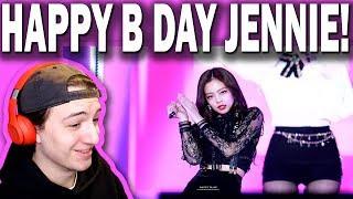 Gambar cover BLACKPINK JENNIE 제니 직캠 - 쏘핫 (SO HOT) REACTION! (Happy Birthday Day Jennie!)