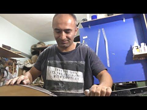 Bağlama polyester zımpara işini yapıyor Cengiz usta +905363471501