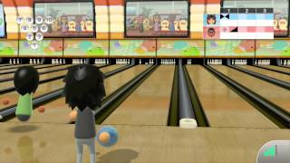 Wii Sports Club - Online Bowling 10 Pin Friend Game