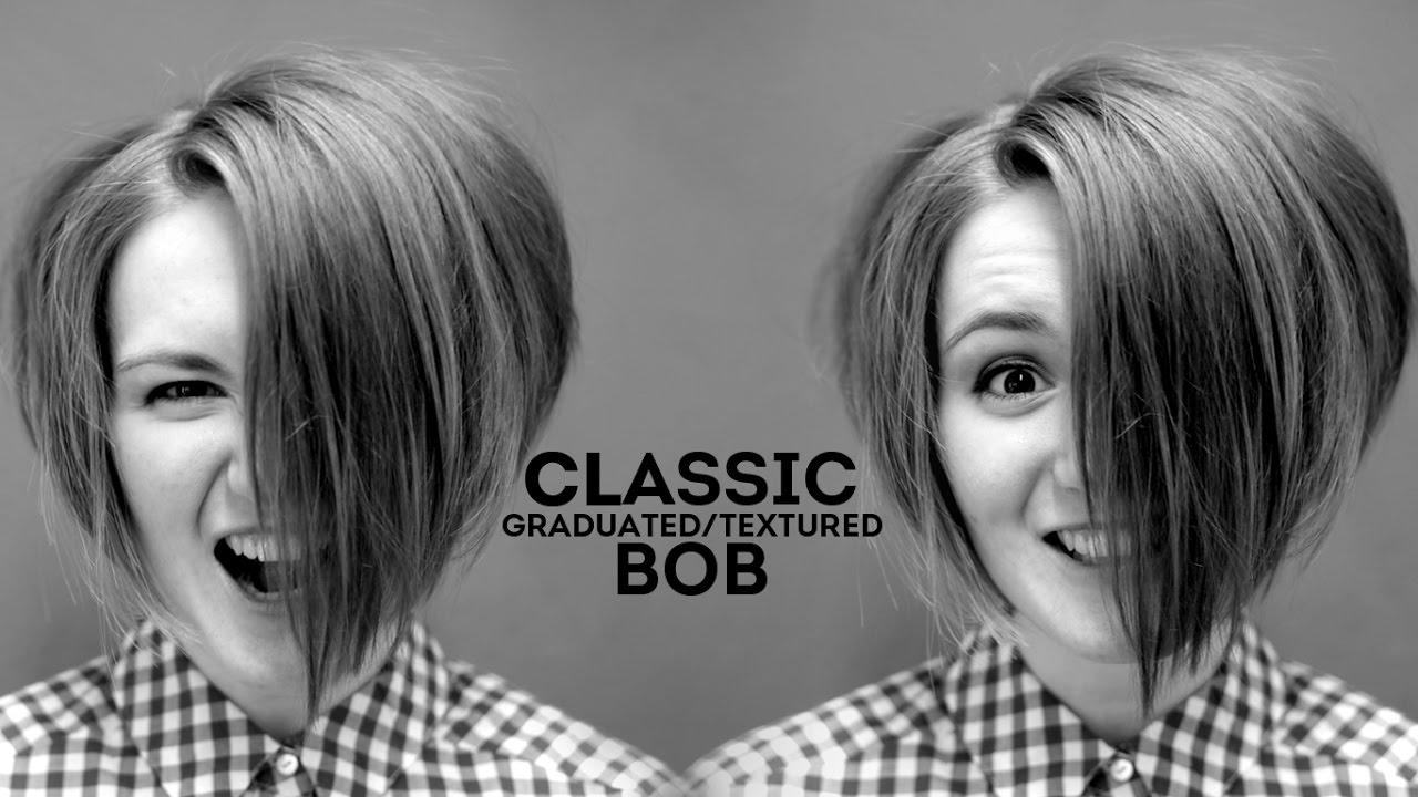 How To Cut Classic Graduated Bob Haircut Youtube