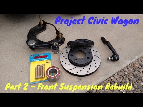 How to Rebuild Front Suspension | DIY Removal & Replacement | 1991 Honda Civic Wagon