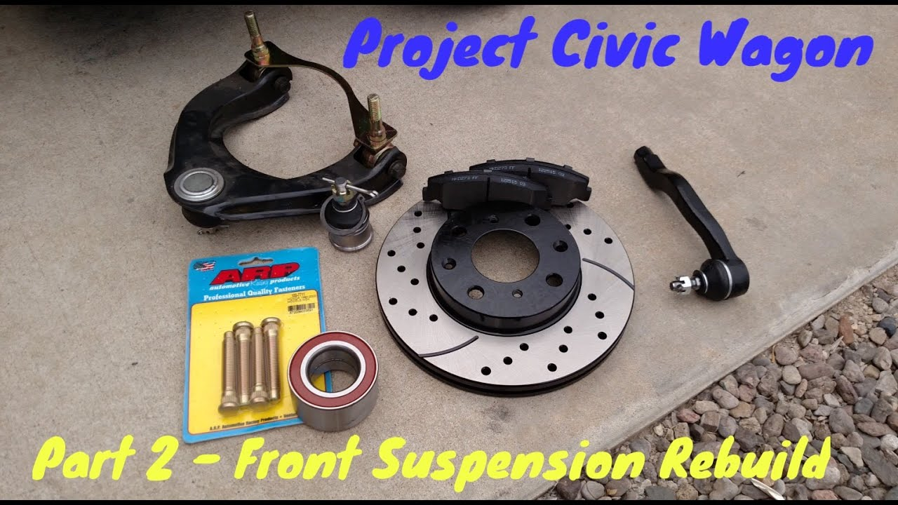 how to rebuild front suspension diy removal replacement 1991 honda civic wagon [ 1280 x 720 Pixel ]