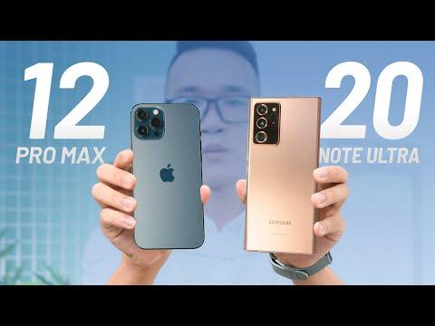 So sánh chi tiết iPhone 12 Pro Max và Galaxy Note 20 Ultra?
