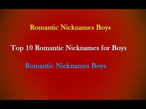 Top 10 Romantic Nicknames for Boys