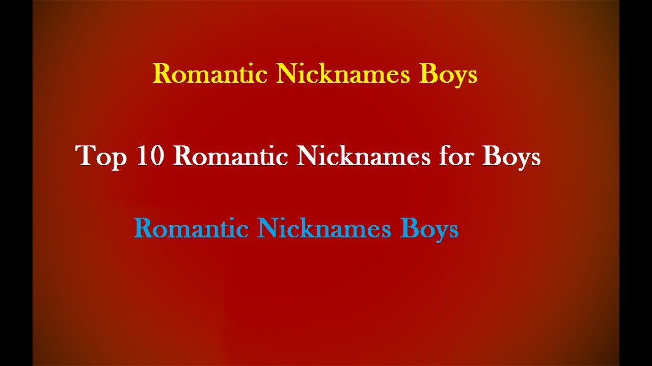 Romantic nickname for husband