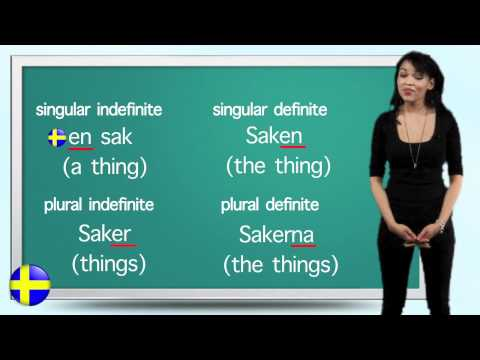 Swedish Lesson 7 - The definite plural article