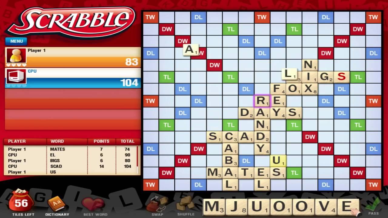 Probando El Scrabble En Ingles Para Pc Youtube