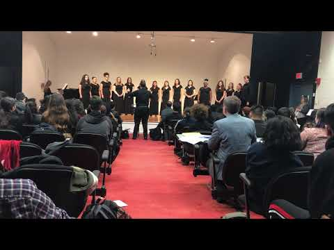 "Bayonne High School Honors Choir performs ""Glow"" by Eric Whitacre, SSA arrangement"