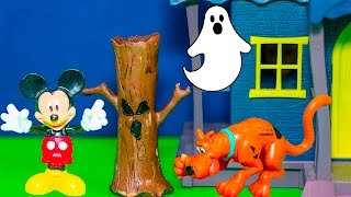 SCOOBY DOO and MICKEY MOUSE Ghost Hunt Scooby Doo Video Toy Parody