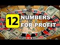 12 NUMBERS FOR PROFIT | FLAT BET | WIN RATE - Roulette Strategy Review