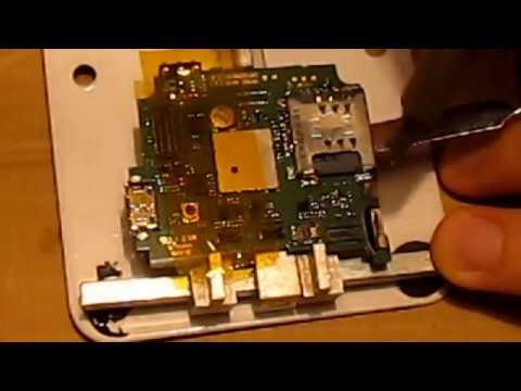 LG KP500 не видит сим карту (замена держателя сим\micro sd)