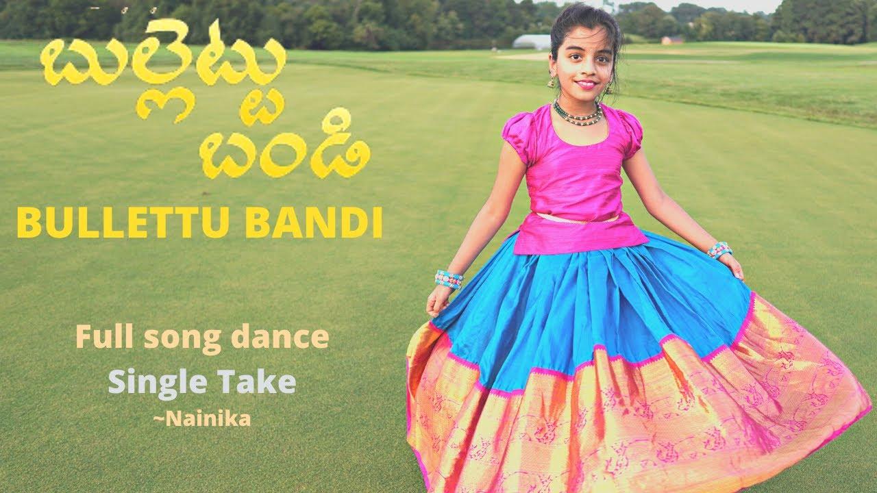 Download Bullettu Bandi | Single take | Full song dance | Nainika