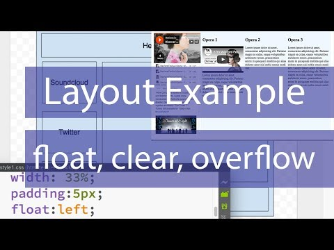 Layout Example CSS - Float, Display, Clear, Overflow Properties