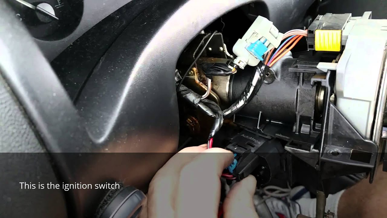 2004 Tahoe Fuse Box Location Control Wiring Diagram Corsa Ignition Switch Replacement Youtube Chevy