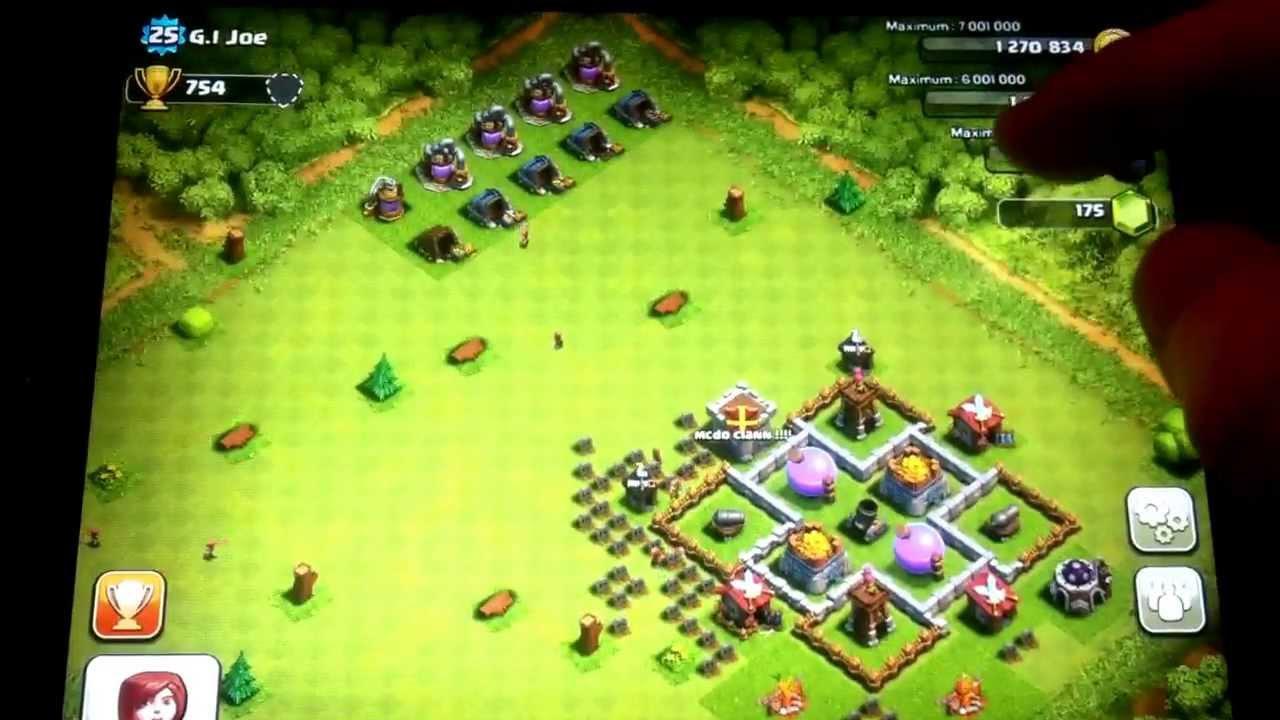 Bien-aimé Clash of clans avec jako131 !!!! Hôtel de Ville 5 - YouTube PV98