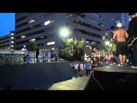 Professional Skate Boarders Support Austin's X Games Bid Concert Event at the Capitol of Texas