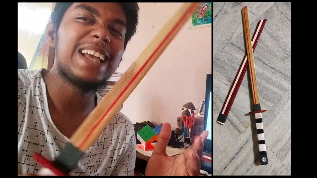 How to make a Sword   Wooden Sword   DIY Sword