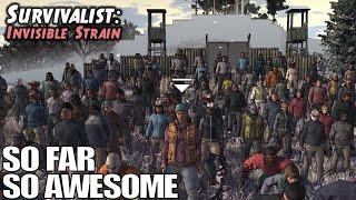 Base Building, NPC Recruiting, Zombie Survival SIM   Survivalist: Invisible Strain Gameplay   E01