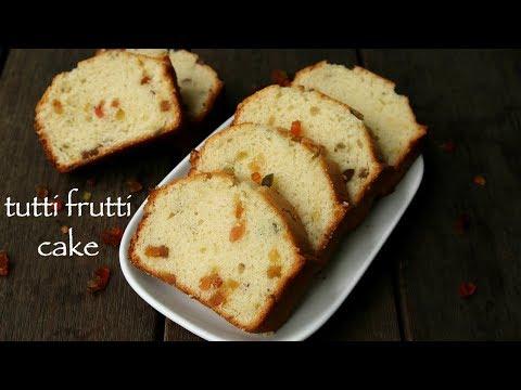 tutti frutti cake recipe | eggless tutti frutti cake | christmas cake recipe