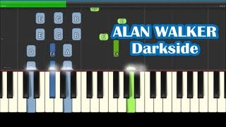 Download Alan Walker, Tomine Harket, Au/Ra - Darkside Piano Tutorial - Chords & Melody